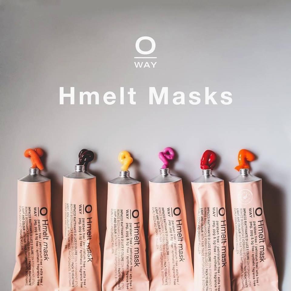 ОРГАНИЧНИ ОЦВЯВАЩИ МАСКИ ЗА КОСА ЗА НАСИТЕН ЦВЯТ OWAY Hmelt Mask 125ML