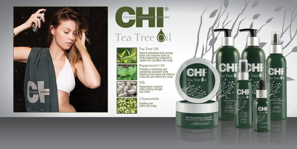 ОВЛАЖНЯВАЩ И ЗАЩИТЕН СЕРУМ ЗА КОСА И СКАЛП  CHI Tea Tree Oil Serum 59ml