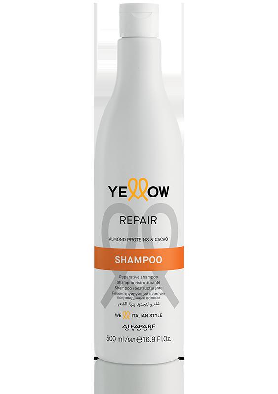 ВЪЗСТНОВЯВАЩ ШАМПОАН С Бадемов протеин и Какао Alfaparf YELLOW Repair Shampoo 500ml