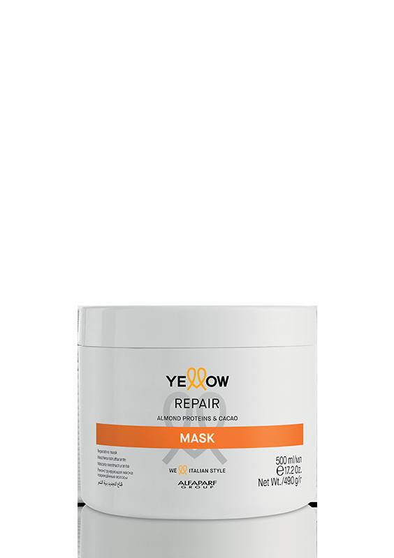 ДЪЛБОКО ВЪЗСТАНОВЯВАЩА маска с Бадемов протеин и Какао Alfaparf Yellow Repair Mask 500ml
