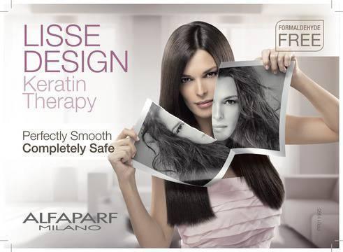 КЕРАТИНОВА ТЕРАПИЯ ЗА ИЗПРАВЯНЕ НА КОСАТА ALFAPARF Liss Design Kit Х3