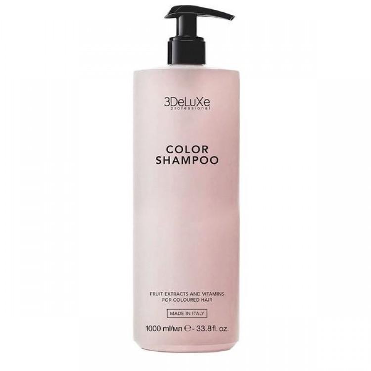 ПРОФЕСИОНАЛЕН ШАМПОАН ЗА БОЯДИСАНА КОСА 3DeLuXe Color Shampoo 1000ml