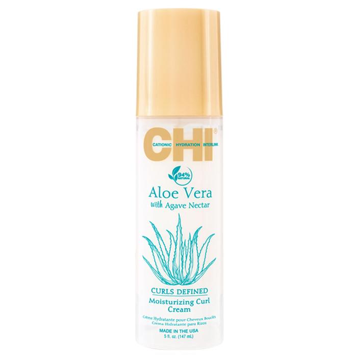 ОВЛАЖНЯВАЩ КРЕМ ЗА КЪДРИЦИ CHI Aloe Vera Moisturizing Curl Cream 147ML