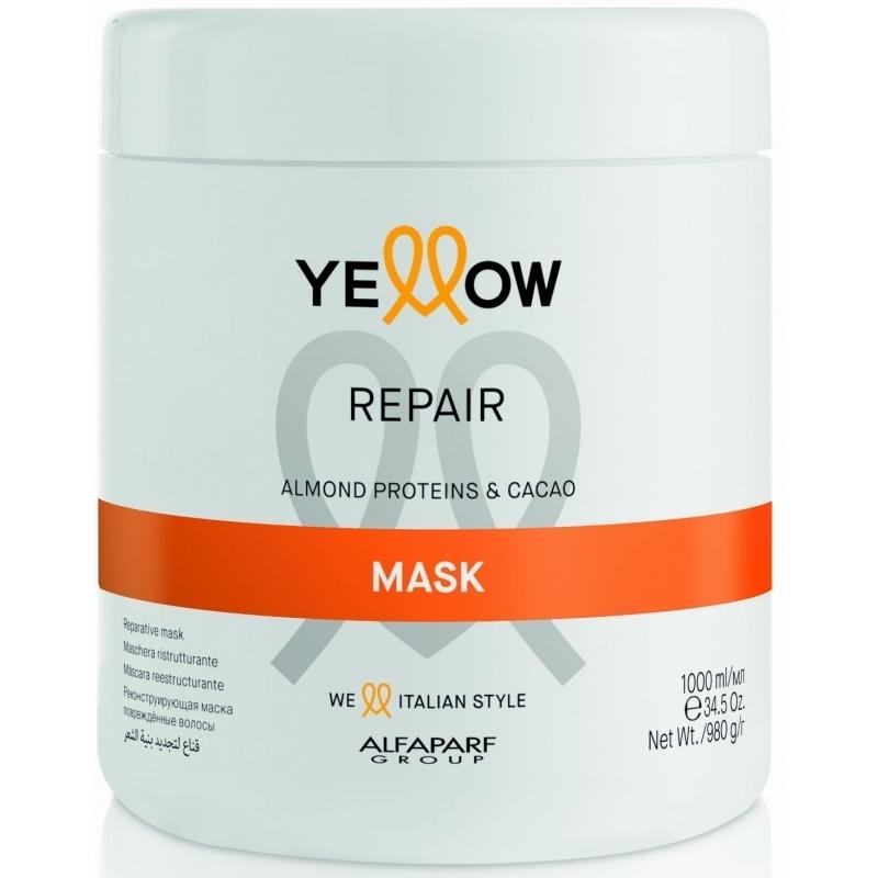 ДЪЛБОКО ВЪЗСТАНОВЯВАЩА МАСКА С Бадемов протеин и Какао Yellow Repair Mask 1000ml