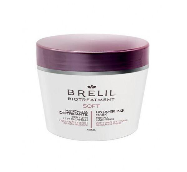 ЛЕКА МАСКА ЗА ЛЕСНО РАЗРЕСВАНЕ Brelil Biotreatment Soft Mask 220ml