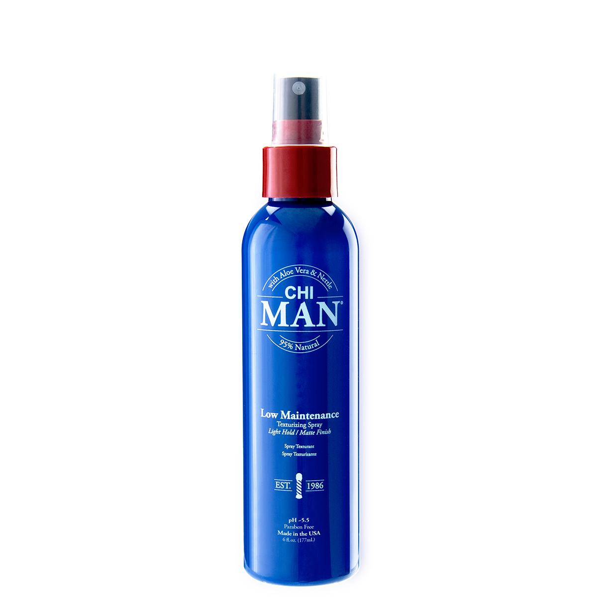 ТЕКСТУРИРАЩ СПРЕЙ С OUD АРОМАТ CHI Man Low Maintenance Texturizing Spray