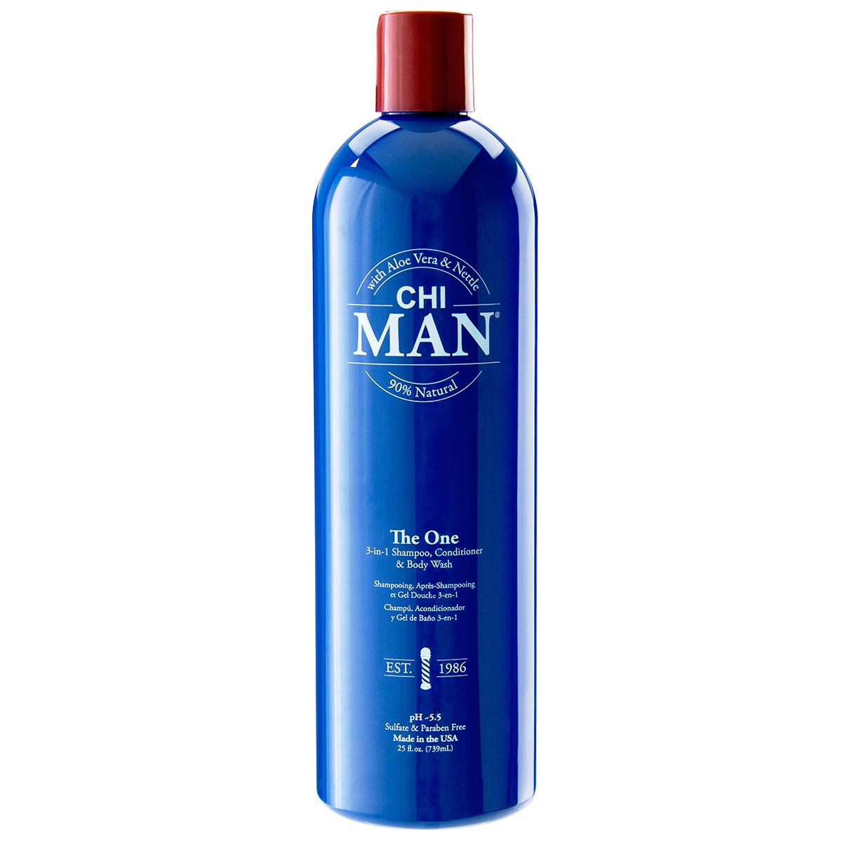 ШАМПОАН 3 В 1 CHI Man The One 3-in-1 Shampoo, Conditioner & Body Wash 739ml