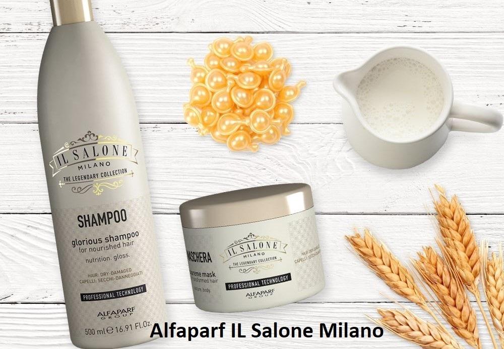 ШАМПОАН С МЛЕЧЕН ПРОТЕИН И БАМБУК Alfaparf IL Salone Milano Glorius Shampoo 1000ml
